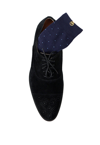 DOT SOCKS NAVY