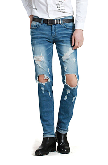 28001 Knee open 0142 Light Jeans