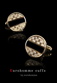 eurohomme No.CG20 ellipse black pearl cuffs