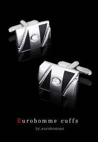 eurohomme No.CS34 silver cubic cuffs