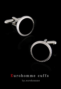 eurohomme No.CS103 black circle cuffs